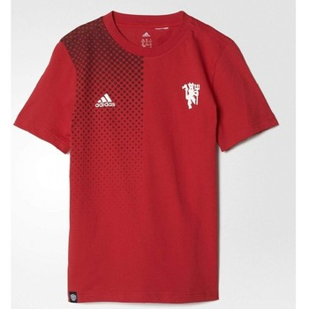 Vêtements Enfant T-shirts & Polos adidas Originals Tee-shirt Enfant  Yb Mufc Tee Rouge
