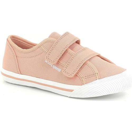 Chaussures Fille Baskets basses Le Coq Sportif Baskets basses à scratchs DEAUVILLE PS WINTER SPORT rose