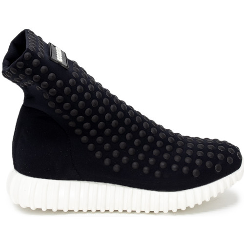 Chaussures Femme Baskets montantes Gioselin LIGHT STUDS BLACK Noir