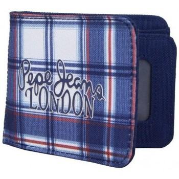 Sacs Homme Portefeuilles Pepe jeans Petit portefeuille monnaie toile  bleu 1268201 Bleu