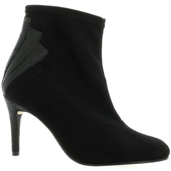 Chaussures Femme Bottines Elizabeth Stuart Boots stretch velours Noir