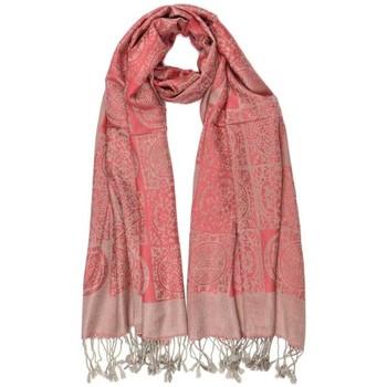 Accessoires textile Echarpes / Etoles / Foulards Léon Montane Grande Echarpe Pashmina rouge et argent Jaipur Leon Montane Rouge