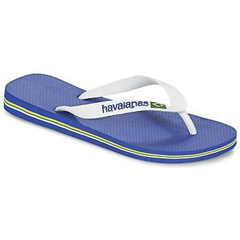 Chaussures Tongs Havaianas BRASIL LOGO Blanc/Marine