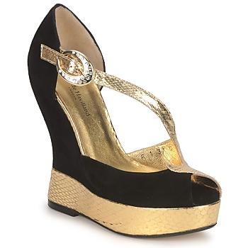 Chaussures Femme Sandales et Nu-pieds Terry de Havilland PENNY BLACK-GOLD