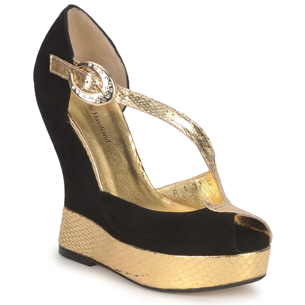 Sandale Terry de Havilland PENNY BLACK-GOLD
