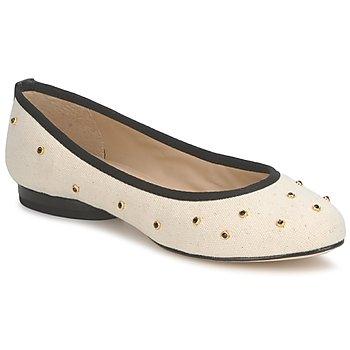 Chaussures Femme Ballerines / babies Kat Maconie DELILAH Blanc cassé / Noir