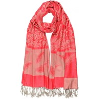Accessoires textile Echarpes / Etoles / Foulards Léon Montane Echarpe Pashmina rouge et grise avec soie Patna Rouge