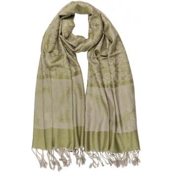 Accessoires textile Echarpes / Etoles / Foulards Léon Montane Echarpe Pashmina verte et grise avec soie Patna Vert