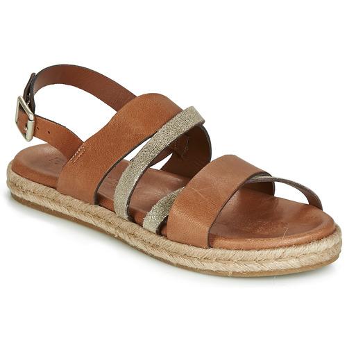 Chaussures Femme Sandales et Nu-pieds Pataugas LOU Cognac / Doré