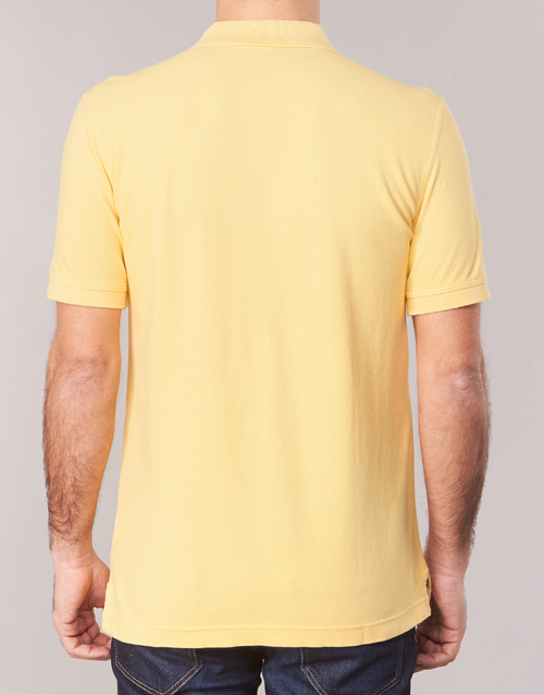 Polos Jaune Madalo Benetton Courtes Homme Manches 9WD2HIEY
