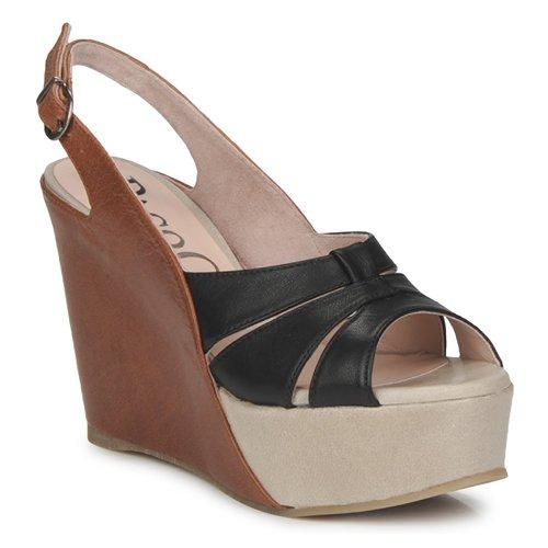 Chaussures Femme Sandales et Nu-pieds Paco Gil RITMO SELV Camel / Noir