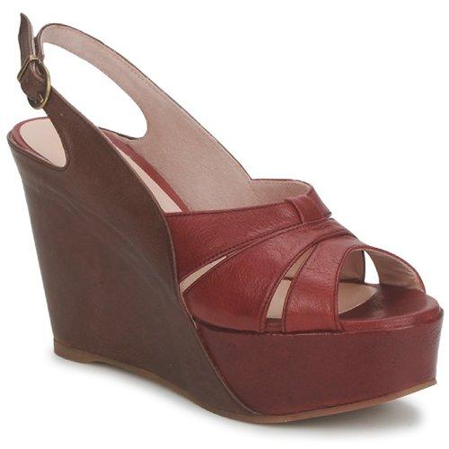 Chaussures Femme Sandales et Nu-pieds Paco Gil RITMO SELV Camel / Bordeaux