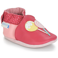 Chaussures Fille Chaussons bébés Robeez FUNNY SWEETS Rose / Blanc