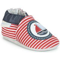 Chaussures Enfant Chaussons bébés Robeez MY CAPTAIN Rouge / Bleu / Blanc