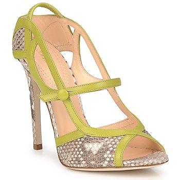 Chaussures Femme Sandales et Nu-pieds Roberto Cavalli RPS678 Python / Vert