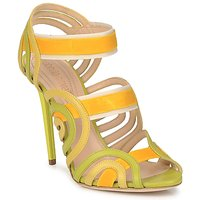 Chaussures Femme Sandales et Nu-pieds Roberto Cavalli RPS691 Vert / Jaune