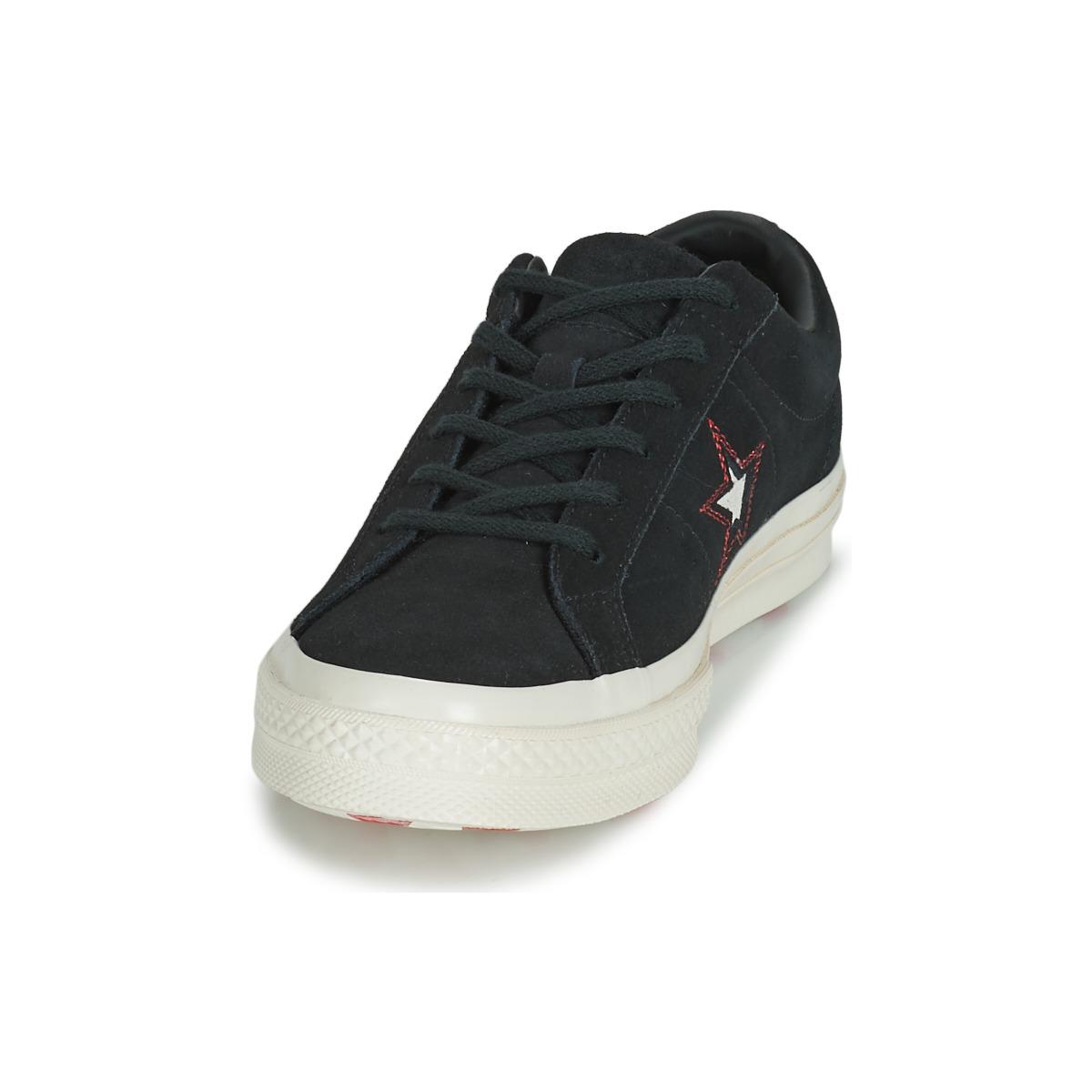 buy online 85203 eb7cc Converse Gratuite 67 One Chaussures The Ox € Suede Femme Details  NoirLivraison Baskets 99 In Basses Love Star Y76yfgb