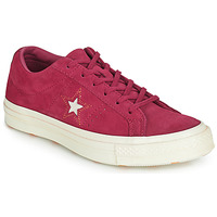 Chaussures Femme Baskets basses Converse ONE STAR LOVE IN THE DETAILS SUEDE OX Fushia