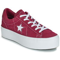 Chaussures Femme Baskets basses Converse ONE STAR PLATFORM SUEDE OX Fuchsia / Blanc