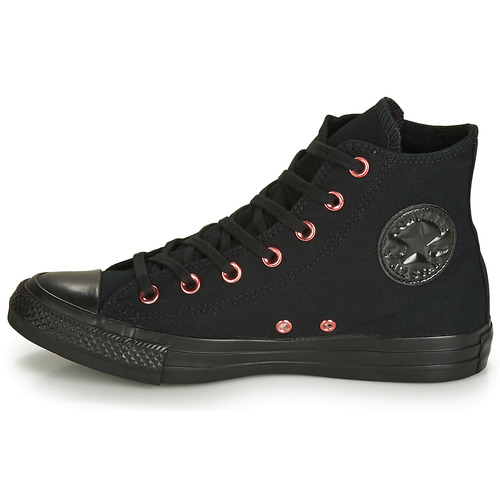 Star Chuck Femme All Hearts Hi Montantes Noir Canvas Converse Baskets Taylor 5RL43Aj