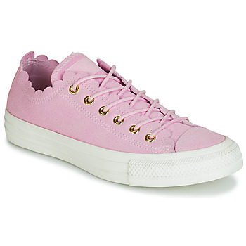 Chaussures Femme Baskets basses Converse CHUCK TAYLOR ALL STAR FRILLY THRILLS SUEDE OX Rose