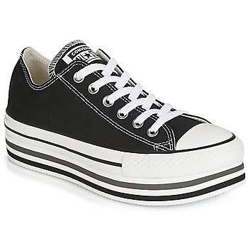 best cheap dcaf0 05fd7 Chaussures Femme Baskets basses Converse CHUCK TAYLOR ALL STAR PLATFORM EVA  LAYER CANVAS OX Noir