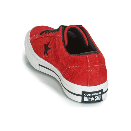 Vintage Baskets Converse Star Suede Chaussures Basses Ox One Rouge Dark XZiuTOPk
