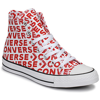 f4d1e0a326891 Chaussures Baskets montantes Converse CHUCK TAYLOR ALL STAR WORDMARK HI  Rouge