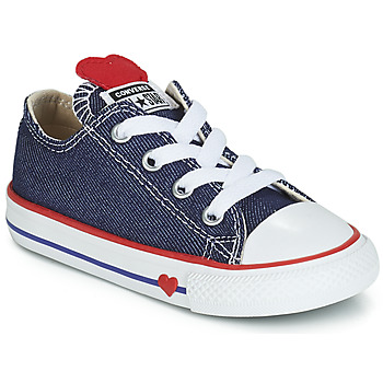 Chaussures Fille Baskets basses Converse CHUCK TAYLOR ALL STAR SUCKER FOR LOVE DENIM OX Bleu