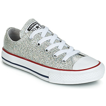 Chaussures Fille Baskets basses Converse CHUCK TAYLOR ALL STAR SPARKLE SYNTHETIC OX Gris