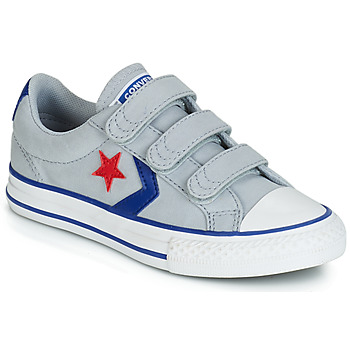 8343fe18494c0 Chaussures Enfant Baskets basses Converse STAR PLAYER 3V CANVAS OX Gris