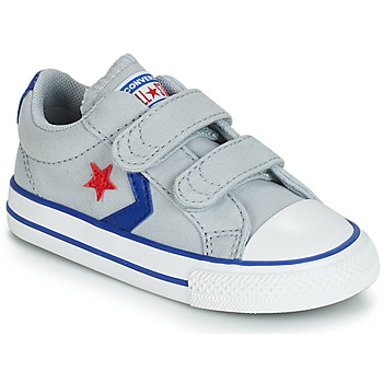 4cfcda3f38667 Chaussures Enfant Baskets basses Converse STAR PLAYER 2V CANVAS OX Gris