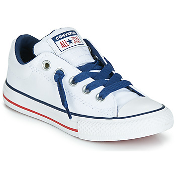 d27e14cdfb24a Chaussures Enfant Baskets basses Converse CHUCK TAYLOR ALL STAR STREET  CANVAS OX Blanc