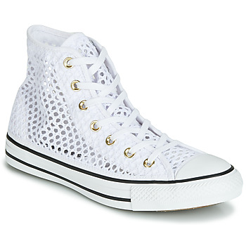 first rate 62b31 8f1f2 Chaussures Femme Baskets montantes Converse CHUCK TAYLOR ALL STAR HANDMADE  CROCHET HI Blanc