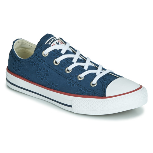 Chaussures Fille Baskets basses Converse CHUCK TAYLOR ALL STAR BROADERIE ANGLIAS OX Marine