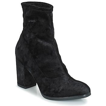 Chaussures Femme Bottines Caprice  Black Velvet