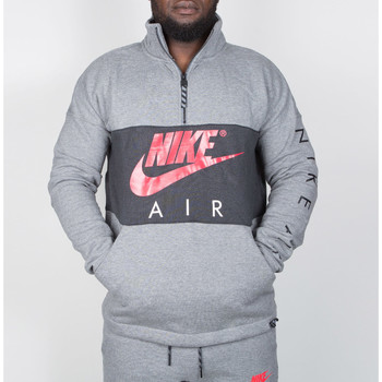 Vêtements Homme Chemises manches longues Nike Nike Air Top Fleece - Carbon Heather / Anthracite / Siren Red 35