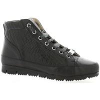 Chaussures Femme Boots G-Max Baskets cuir serpent Noir