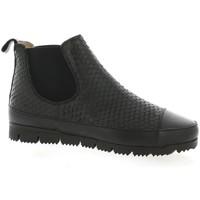 Chaussures Femme Boots G-Max Boots cuir serpent Noir