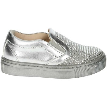 Chaussures Fille Slip ons Florens W8564 Argent