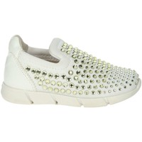 Chaussures Fille Slip ons Florens W8451 Blanc