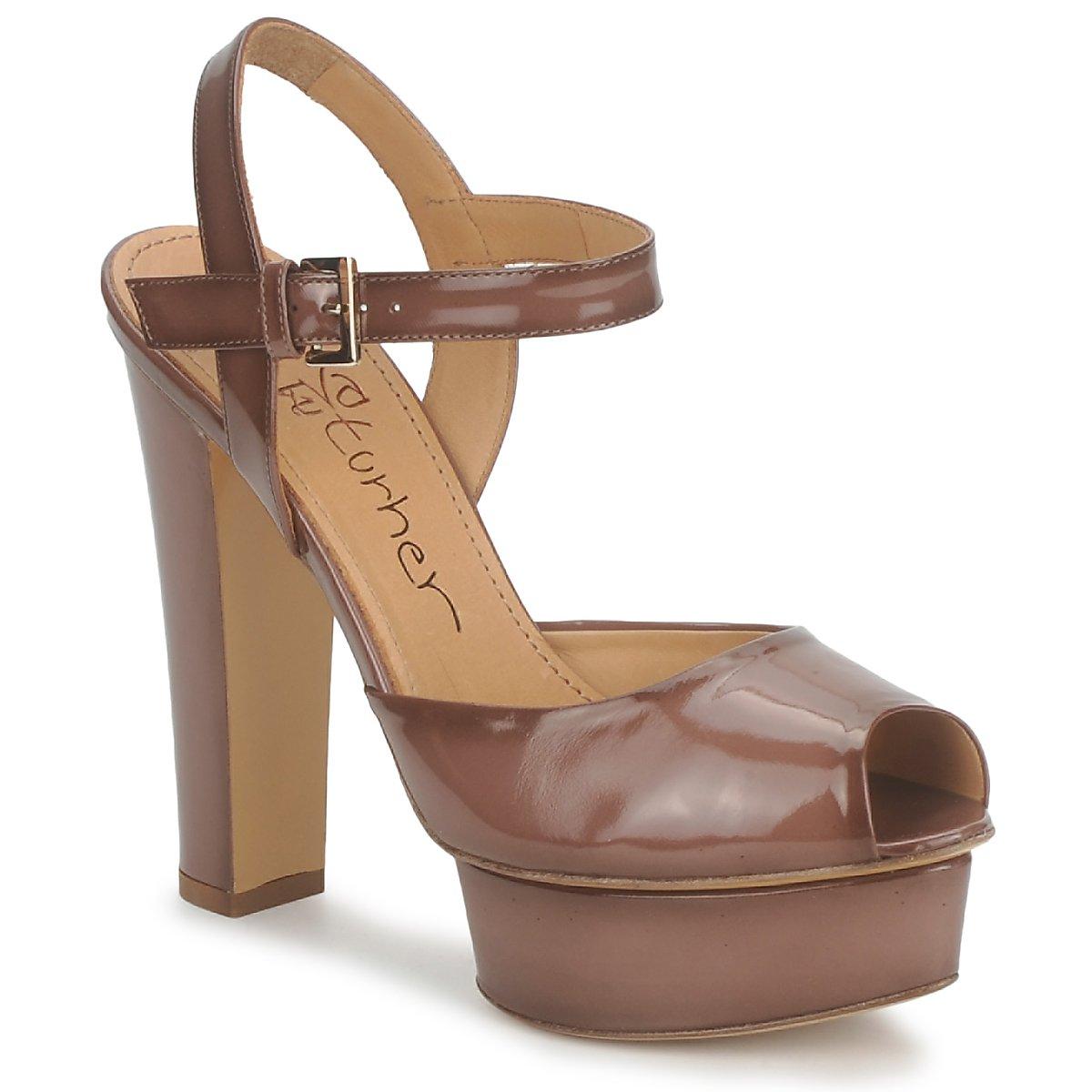Eva Turner ERSILIA Marron - Livraison Gratuite avec  - Chaussures Sandale Femme