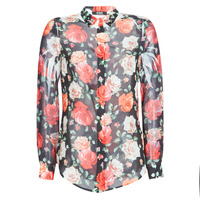Vêtements Femme Chemises / Chemisiers Guess CLOUIS Noir / Multicolore