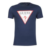 Vêtements Homme T-shirts manches courtes Guess ORIGINAL Marine