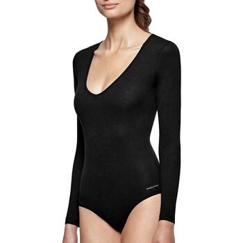 Sous-vêtements Femme Bodys Impetus Body col V noir manches longues régule la température Noir