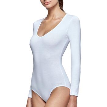 Sous-vêtements Femme Bodys Impetus Body col V blanc manches longues régule la température Blanc