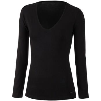 Vêtements Femme T-shirts manches longues Impetus Tricot de peau col V manches longues noir femme Noir