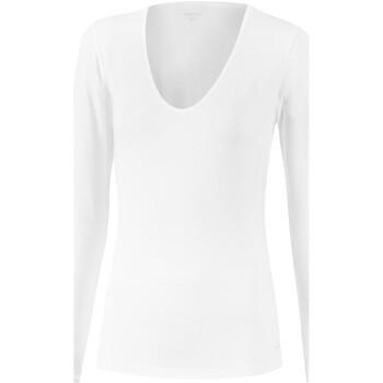 Vêtements Femme T-shirts manches longues Impetus Tricot de peau col V manches longues blanc femme Blanc