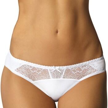 Sous-vêtements Femme Culottes & slips Gorteks Culotte en dentelle Pamela Blanc Blanc