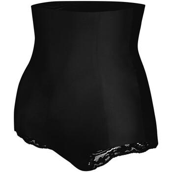 Sous-vêtements Femme Culottes gainantes Julimex Gaine taille très haute avec dentelle Talia Noir Noir